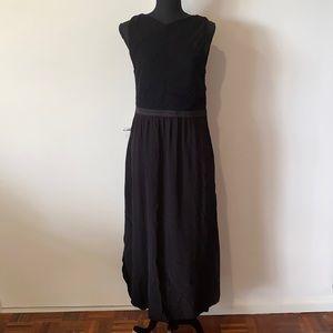 Witchery Maxi Dress AU 16 Black Stretch Pre Owned EC